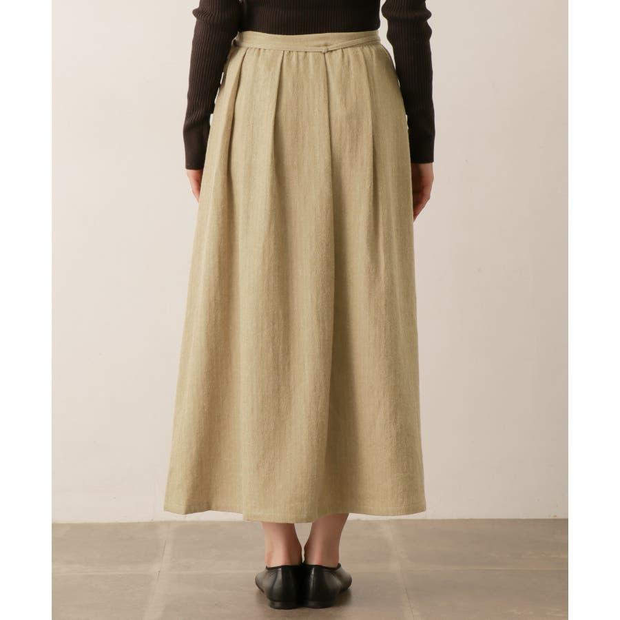 sigalm ウールリネンラップスカート 6