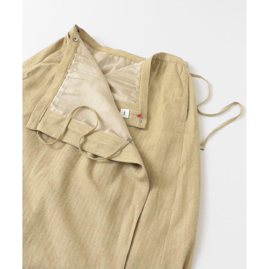 sigalm ウールリネンラップスカート 8