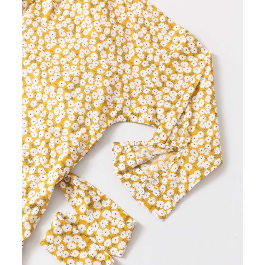 小花柄布帛ワンピース 5