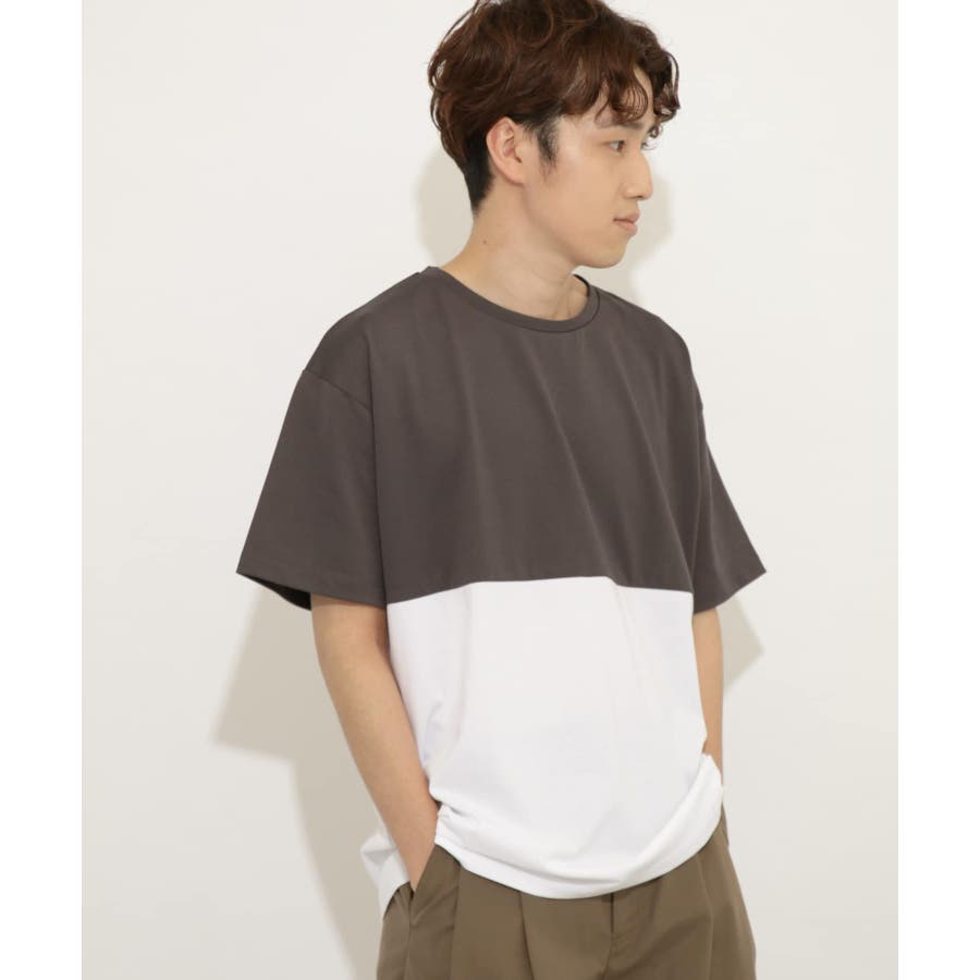 バイカラーTシャツ(5分袖) 1
