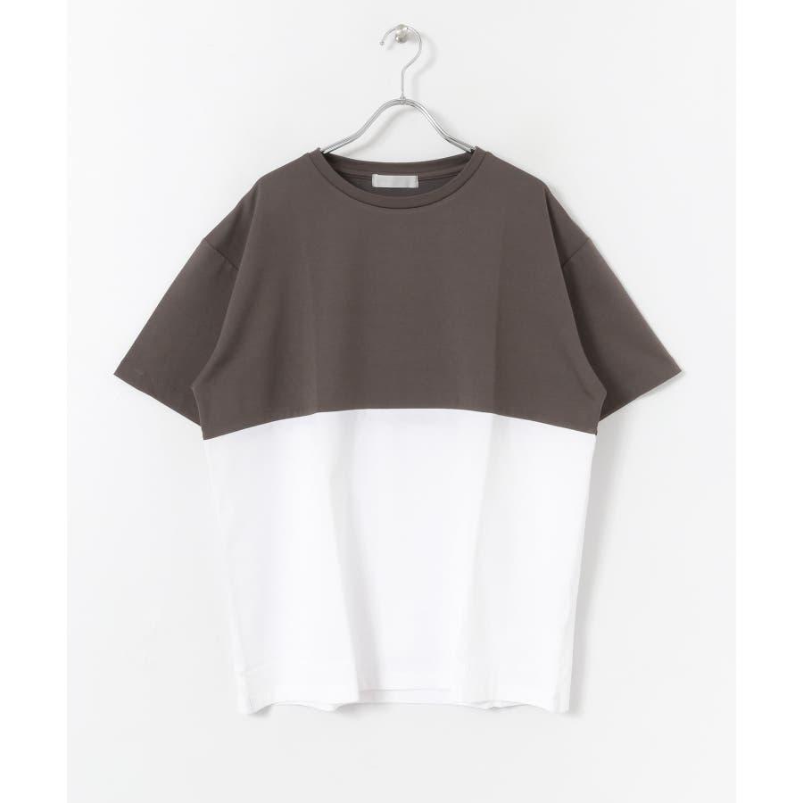 バイカラーTシャツ(5分袖) 2