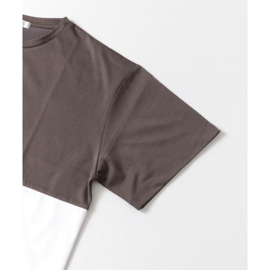 バイカラーTシャツ(5分袖) 4