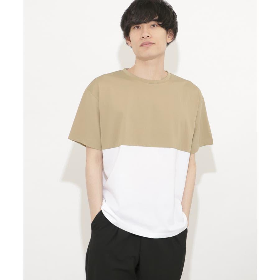 バイカラーTシャツ(5分袖) 41
