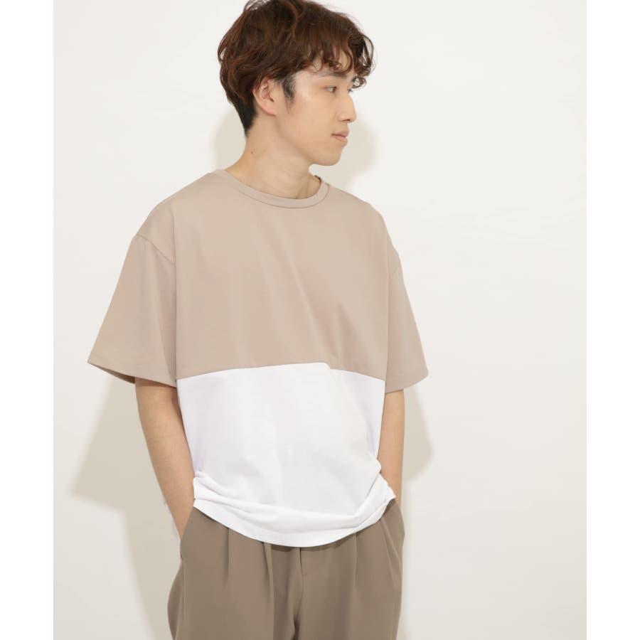 バイカラーTシャツ(5分袖) 42