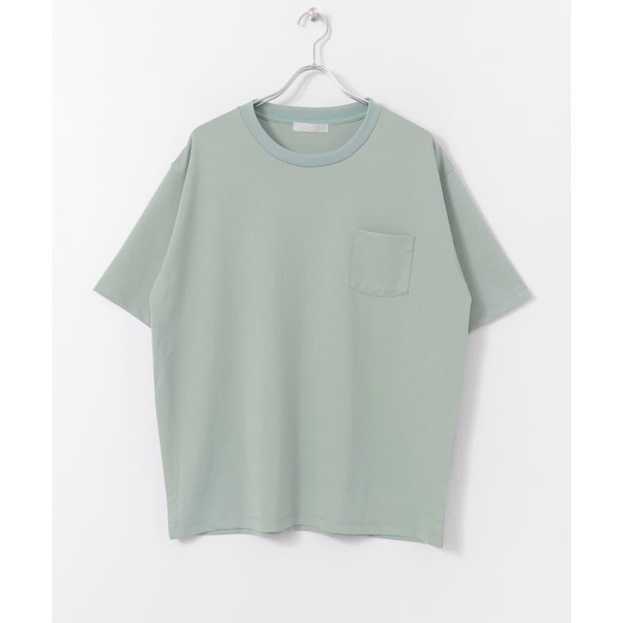 ポンチポケットTシャツ(5分袖) 50