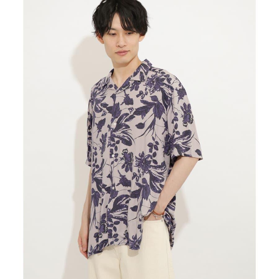 ボタニカルオープンカラーシャツ(5分袖) 1