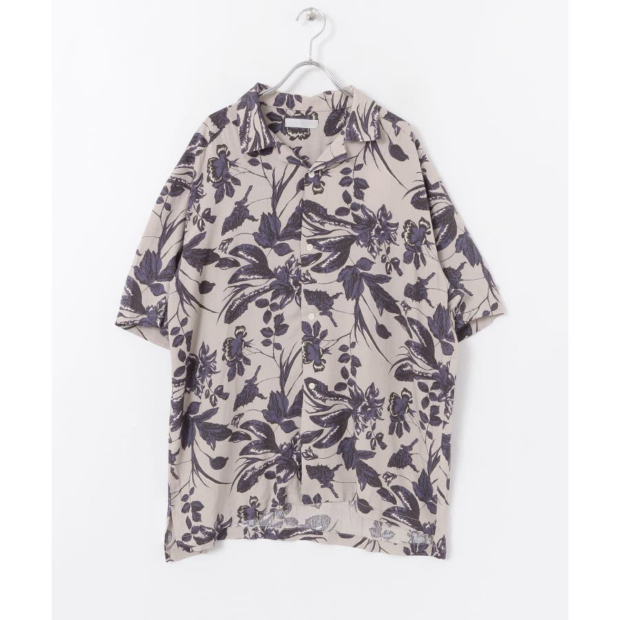 ボタニカルオープンカラーシャツ(5分袖) 2