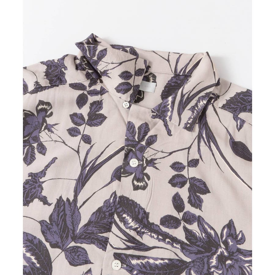 ボタニカルオープンカラーシャツ(5分袖) 3