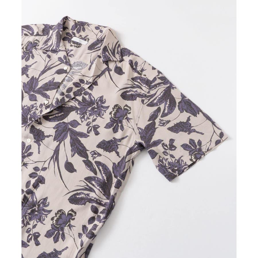 ボタニカルオープンカラーシャツ(5分袖) 4
