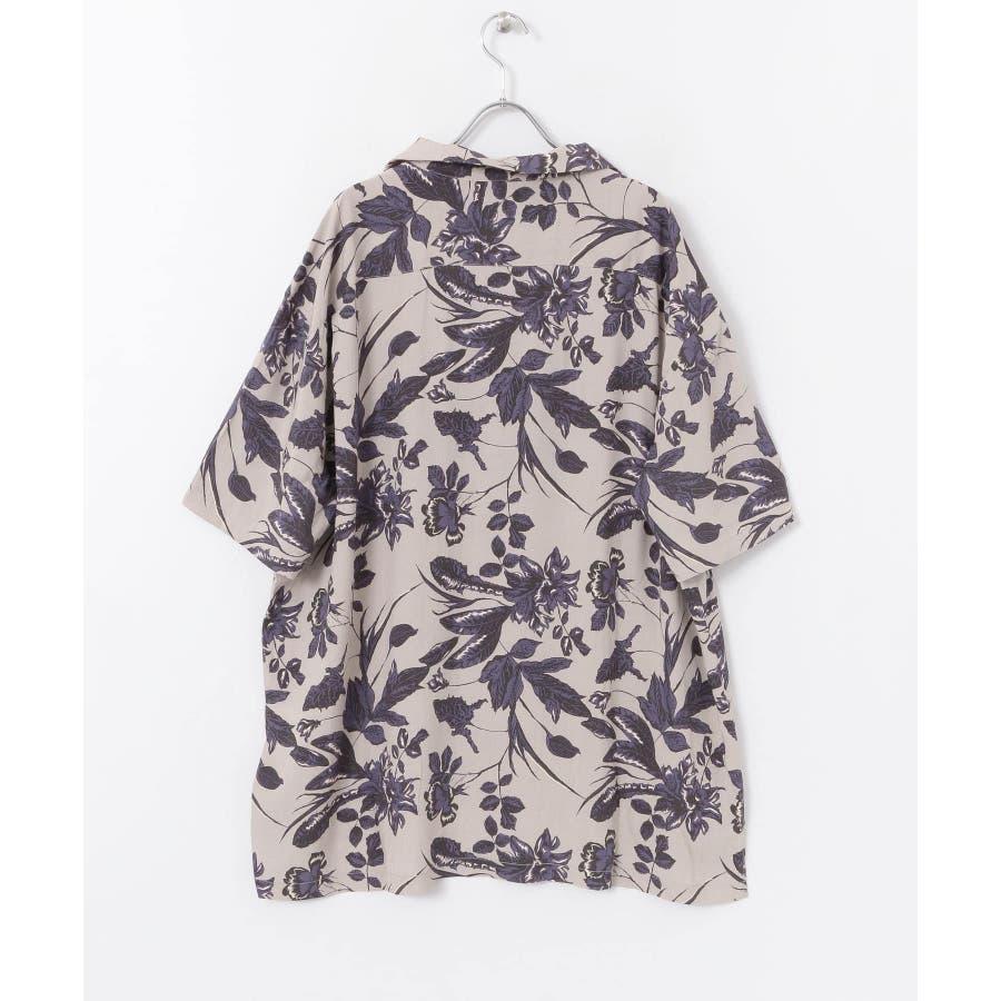 ボタニカルオープンカラーシャツ(5分袖) 6