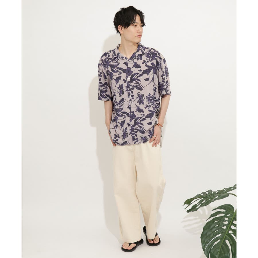 ボタニカルオープンカラーシャツ(5分袖) 8