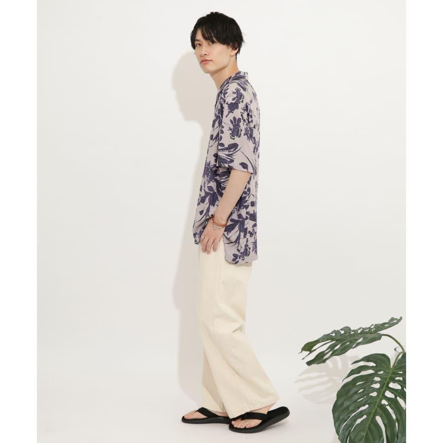 ボタニカルオープンカラーシャツ(5分袖) 9