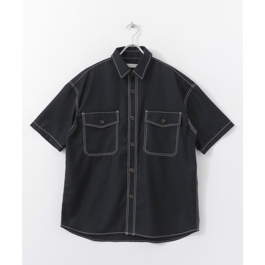 ステッチアウトCPOシャツ(5分袖) 2