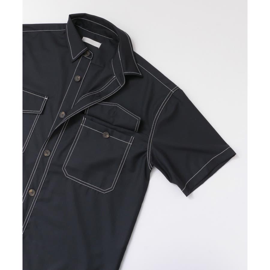 ステッチアウトCPOシャツ(5分袖) 3