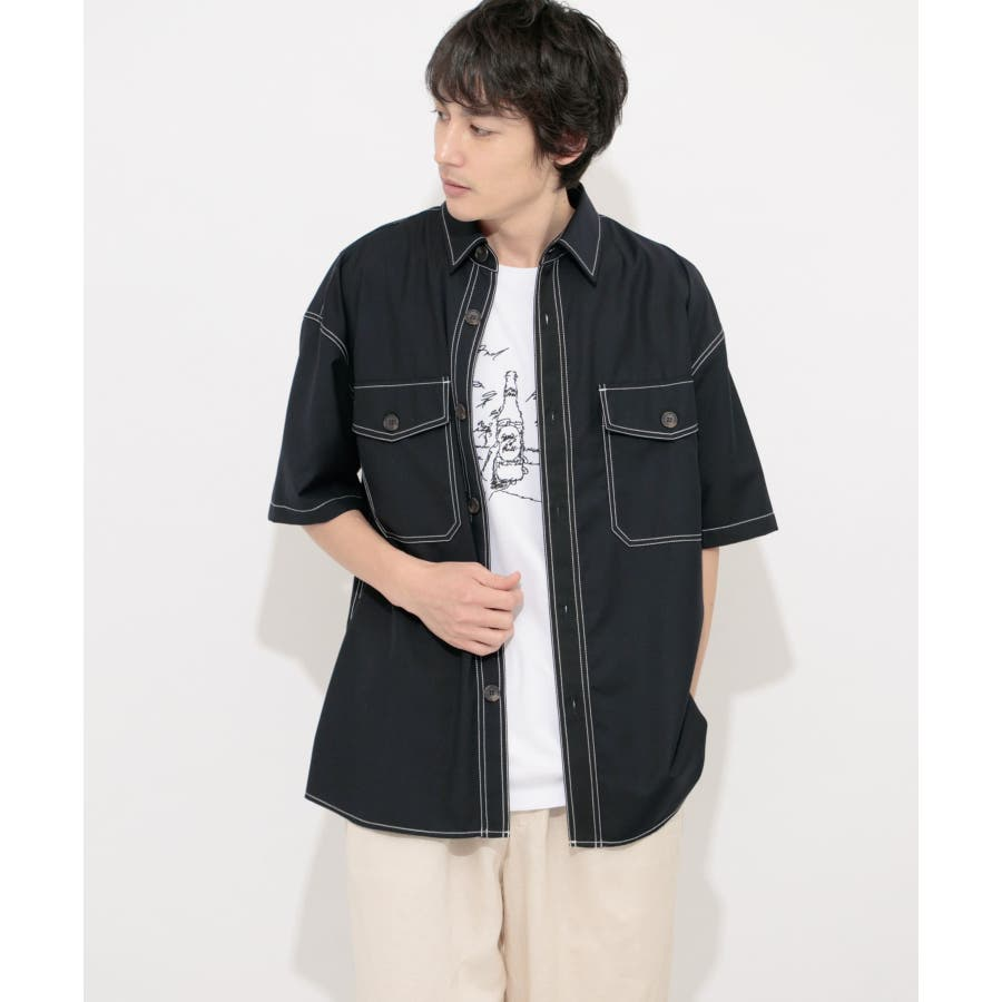 ステッチアウトCPOシャツ(5分袖) 6