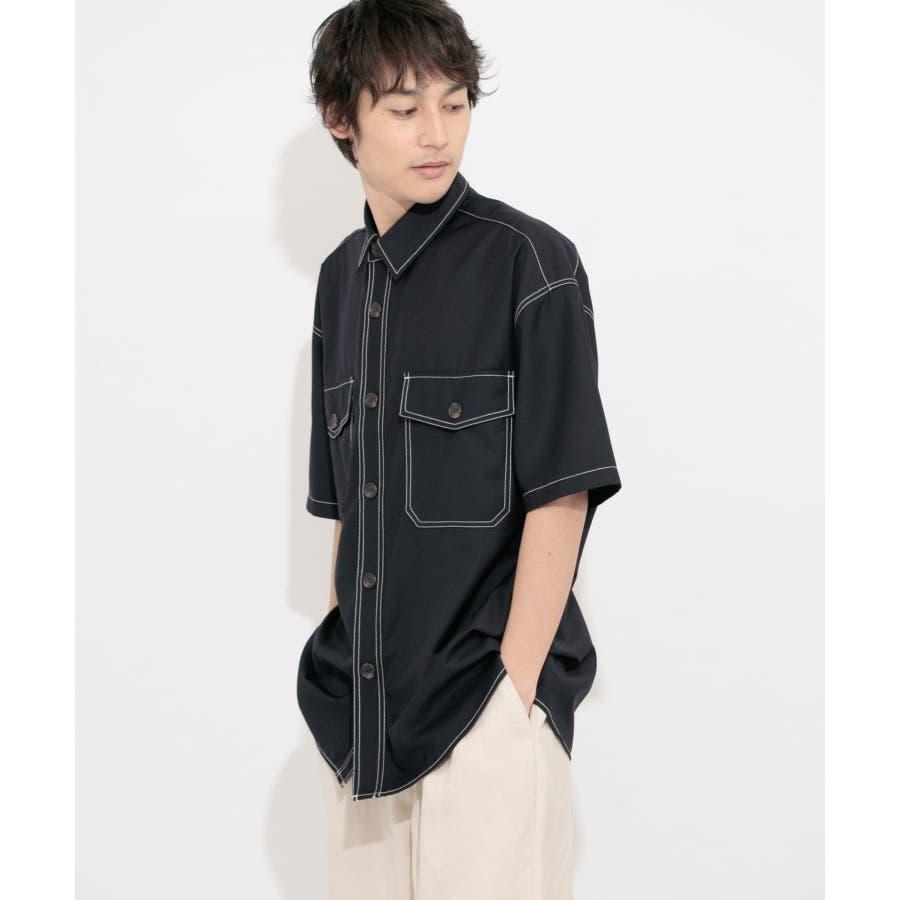 ステッチアウトCPOシャツ(5分袖) 7