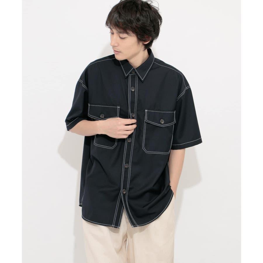 ステッチアウトCPOシャツ(5分袖) 22
