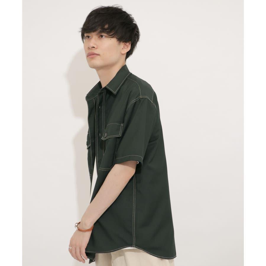 ステッチアウトCPOシャツ(5分袖) 58