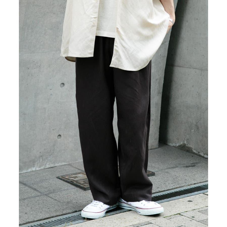 リネンレーヨン タックワイドパンツ 21