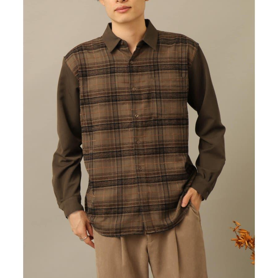 モールチェックブロックドシャツ 1