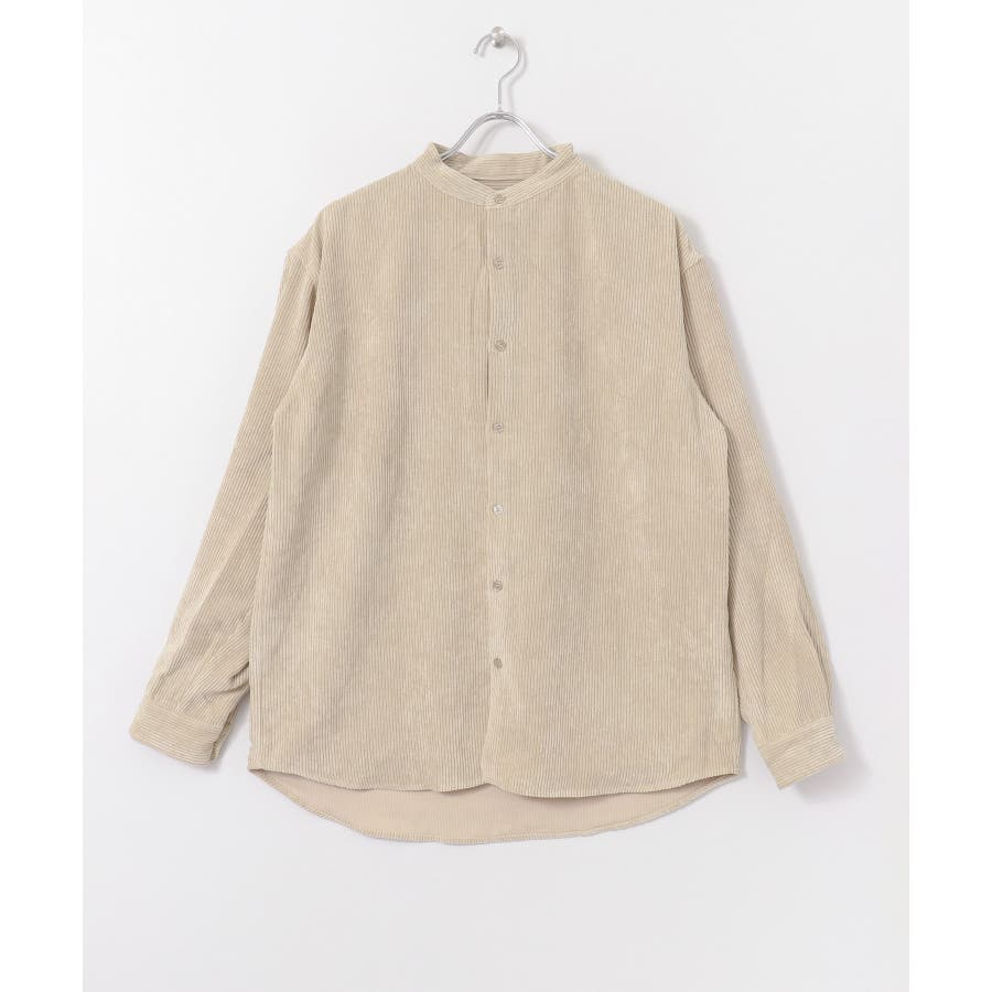コーデュロイバンドカラーシャツ 4