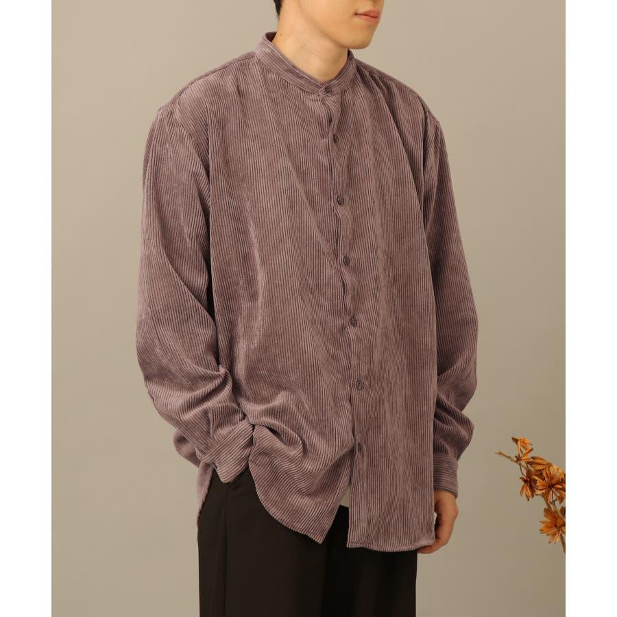 コーデュロイバンドカラーシャツ 26
