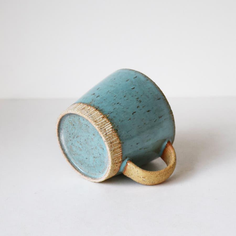 マグカップ ペア ターコイズブルー マグ 大きいマグ 350cc おしゃれ 陶器 美濃焼 日本製 和食器 プレゼント ギフト 包装 4