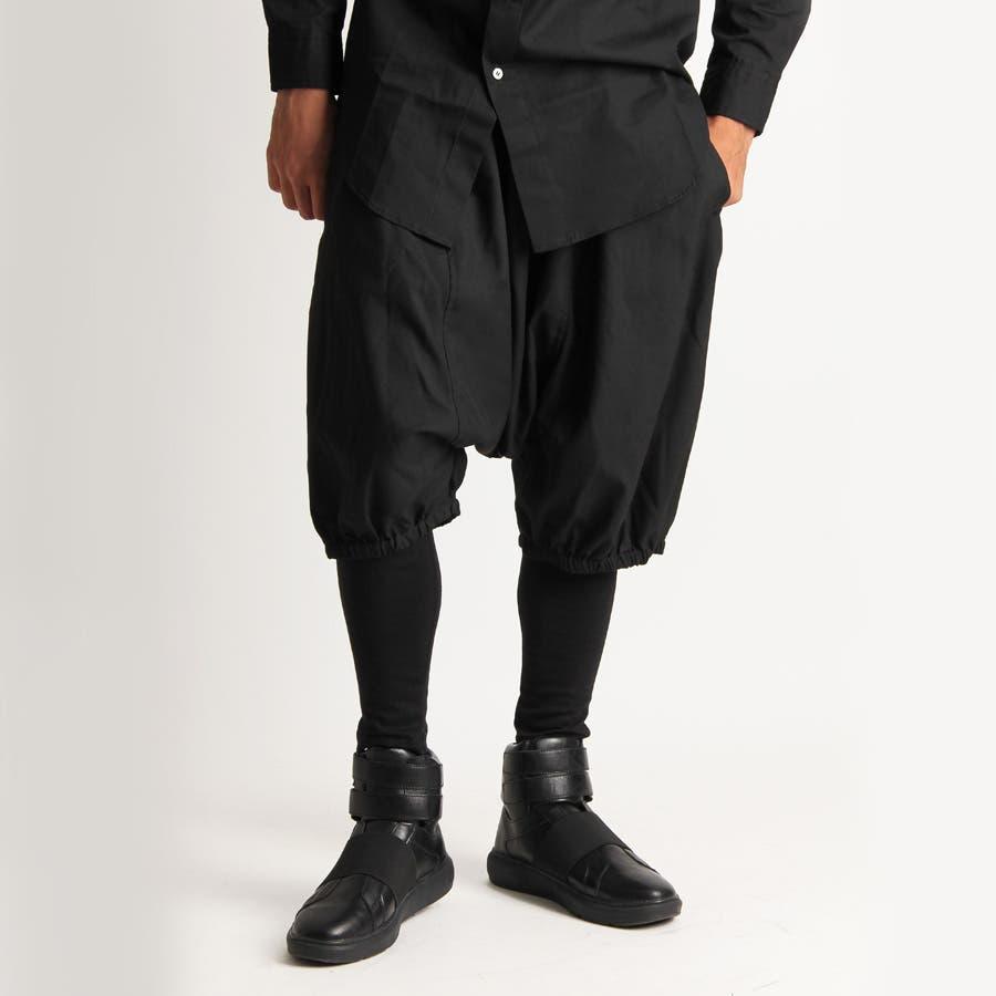 [Valletta]日本製 レギンスレイヤードショートパンツ[a-726012]パンツ レギンス スパッツ パンツ ショーツスリムスキニー ショートパンツ 国産 黒 ブラック ストリートモード メンズ カジュアル 1