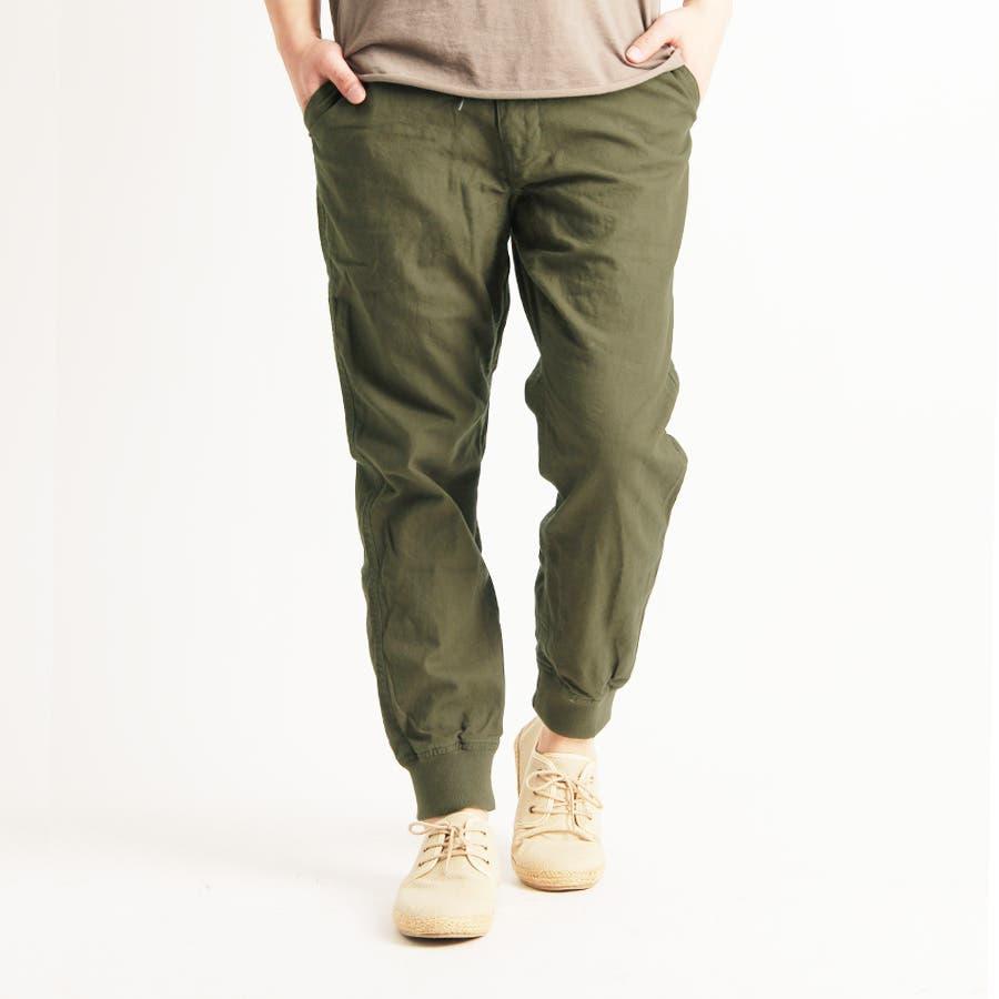 まさにストレスフリーな着心地 メンズファッション通販 Valletta 4color 綿麻ジョガーパンツ jb-52174 リネン コットン パンツ コットンパンツ イージーパンツ黒ブラック 白 ホワイト カーキ メンズ カジュアル ストリート 具合