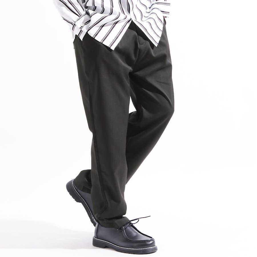 【Valletta】TRストレッチ1タックスラックスワイドパンツ[rv7519]ワイドパンツ テーパード スポーツ ストレッチ スラックス スウェットパンツ ガウチョパンツ ガウチョ イージーパンツ パンツ メンズカジュアル ストリート スポーツ モード ストリートモード 1