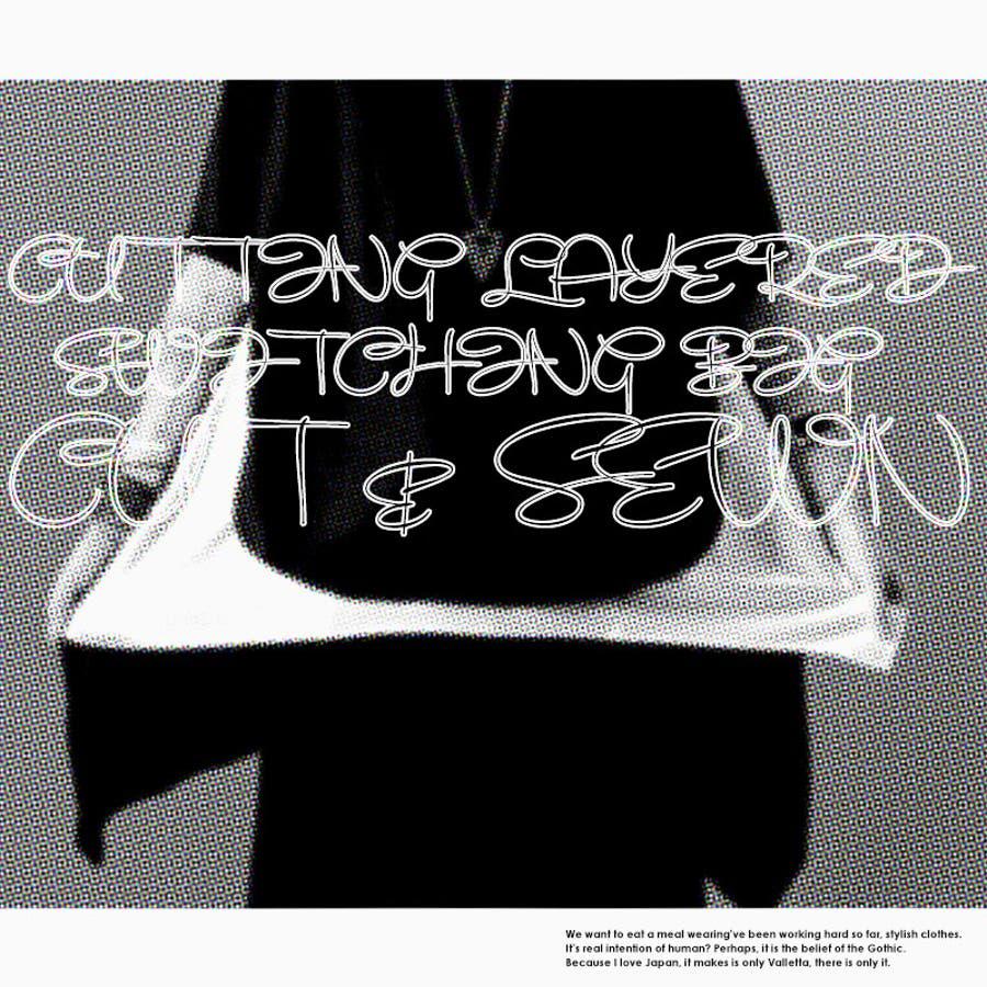 [Valletta]日本製 2color カッティングレイヤード切替ビッグカットソー[a-426013]日本製 国産ロング丈ロングビッグ Tシャツ ラグラン クルーネック 半袖 黒 ブラック 白 ホワイト 無地 ストリートモード メンズ カジュアル 2