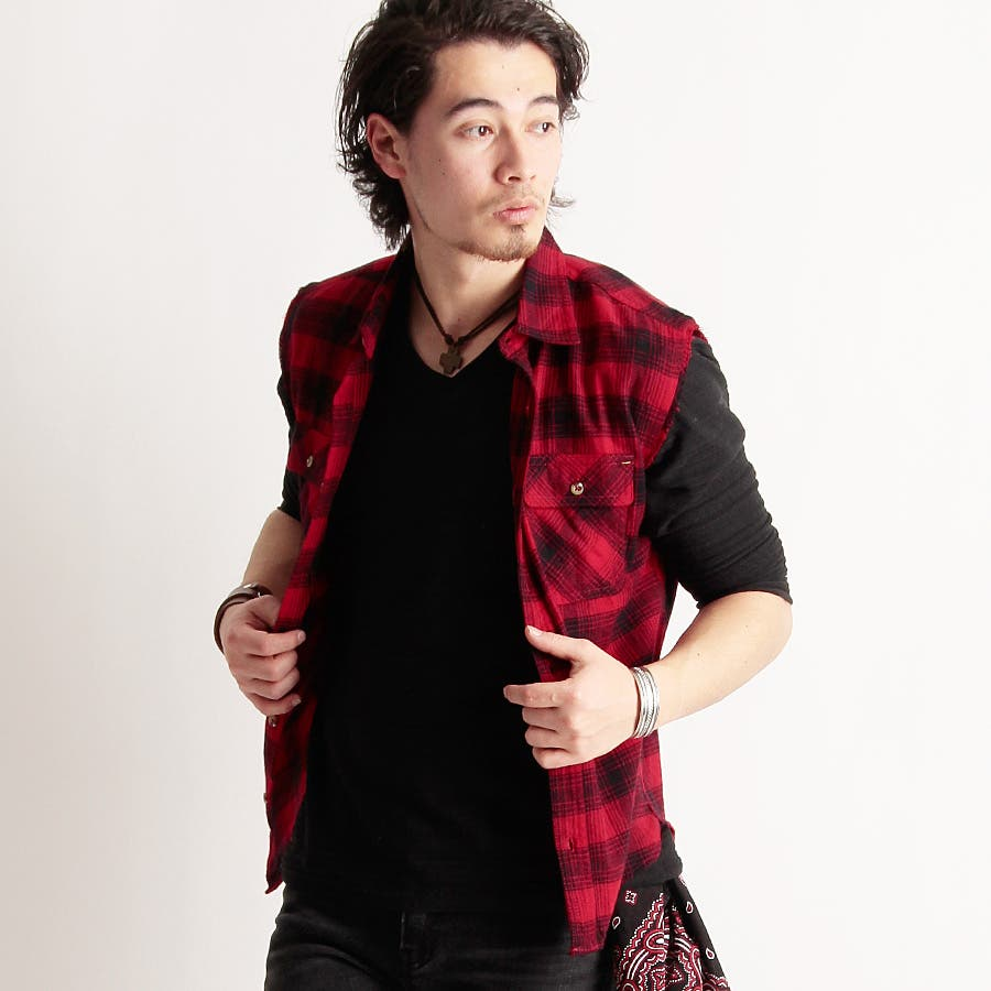 この値段でこの品質は良い メンズファッション通販 Valletta 5color ノースリーブチェックシャツ 09005 ベスト チェックシャツ ネルシャツ スリーブレスシャツチェック柄 メンズ カジュアル ストリート アメカジ 倍増