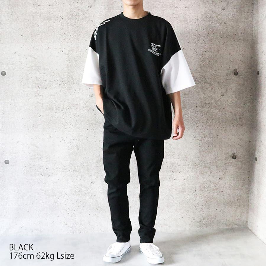 ビッグTシャツ メンズ ワイドシルエット Tシャツ ビッグ ビッグT BIG Tシャツ プリントTシャツ ドロップショルダードルマンスリーブ ドルマン ヘビーウェイト オーバーサイズ ゆったり 大きめ ホワイト 白 ブラック 黒 ベージュ パープル 紫 韓国ストリート [026-002] 5
