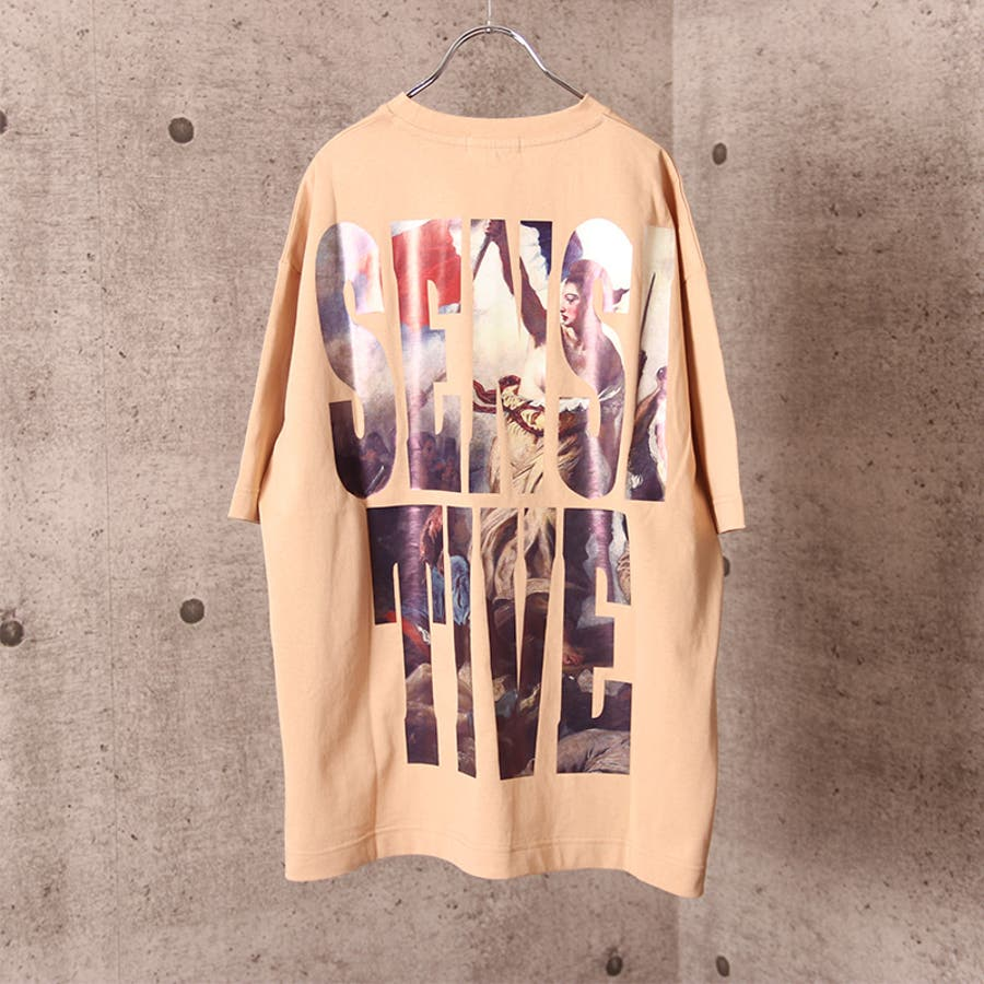 ビッグシルエット プリント Tシャツ メンズ ワイド ビッグサイズ オーバーサイズ Tシャツ バックプリント Tee ストリート 白黒 ロゴT ビッグT ビッグプリント ビッグロゴTシャツ T 夏 ゆったり 大きい ドロップショルダー [22-h764] 7