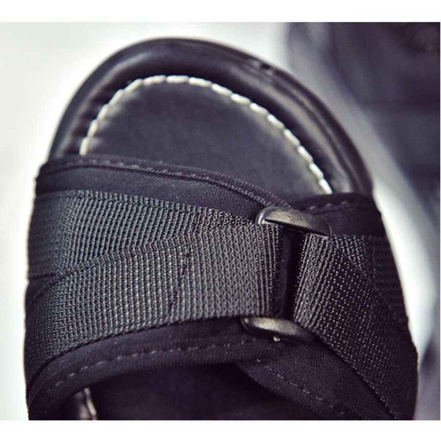 厚底 サンダル レディース スポーツサンダル スポサン プラットフォーム 大人 オープントゥサンダル 歩きやすいシューズ 安定 軽量黒 ブラック 22E50429 8