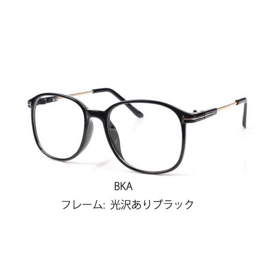 伊達メガネ ウェリントン レディース 伊達めがね 伊達眼鏡 UV セルフレーム 度なし メガネ レディース ファッション 大人かわいい おしゃれ 黒ぶち 22R7218N 4