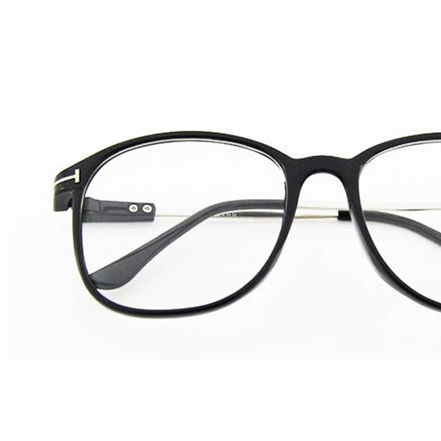 伊達メガネ ウェリントン レディース 伊達めがね 伊達眼鏡 UV セルフレーム 度なし メガネ レディース ファッション 大人かわいい おしゃれ 黒ぶち 22R7218N 8