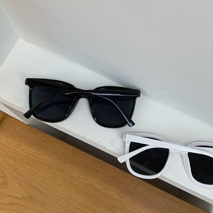 ブラックサングラス ウェリントン おしゃれ ( レディース メンズ ユニセックス) [ビッグフレーム ドライブ 紫外線 人気 トレンド流行] ブラック 黒 フレーム 22R84423 5