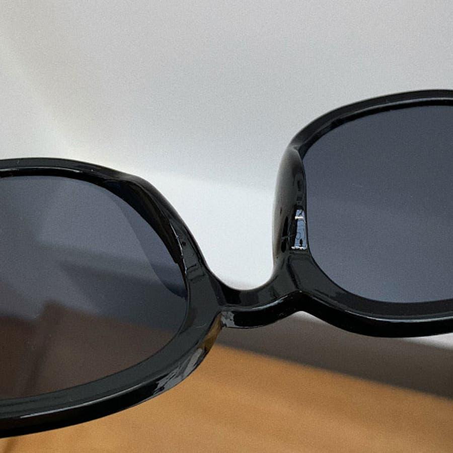 ブラックサングラス ウェリントン おしゃれ ( レディース メンズ ユニセックス) [ビッグフレーム ドライブ 紫外線 人気 トレンド流行] ブラック 黒 フレーム 22R84423 8