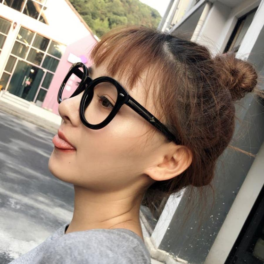 伊達メガネ 伊達めがね レディース ダテメガネ 眼鏡 伊達眼鏡 だてめがね メガネ 黒 ブラック 丸眼鏡 ボストン ラウンド メタル黒ぶち 男女兼用 ユニセックス 22R84215 8