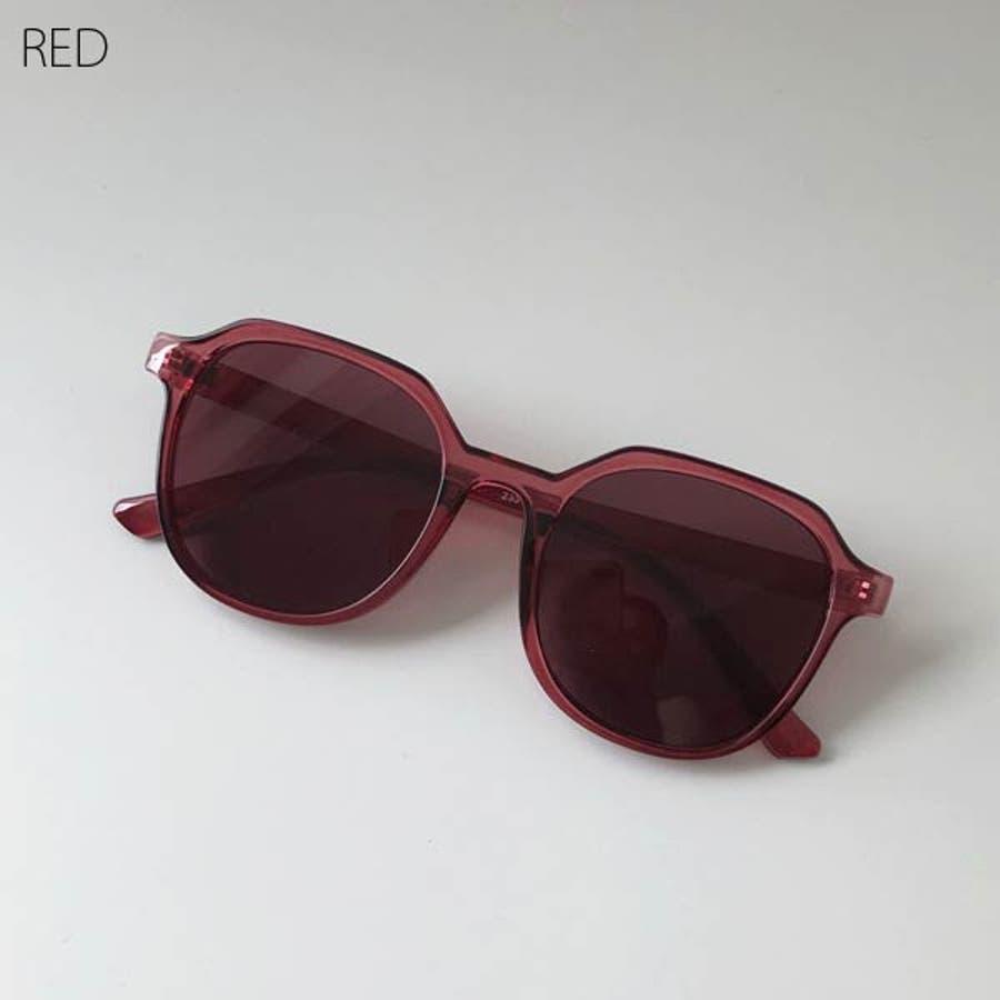 サングラス ウェリントン おしゃれ レディース メンズ ユニセックス ビッグフレーム ドライブ 紫外線 人気 トレンド 流行 ブラック黒 ブラック 茶 ブラウン オレンジ 赤 レッド 22R84525 5