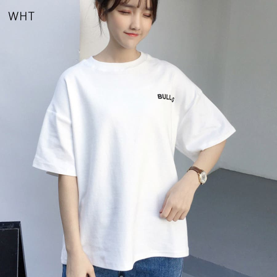 Tシャツ レディース トップス 半袖 チュニック プールオーバー クルーネック カジュアル シンプル かわいい 春夏 白 ホワイトピンク 3