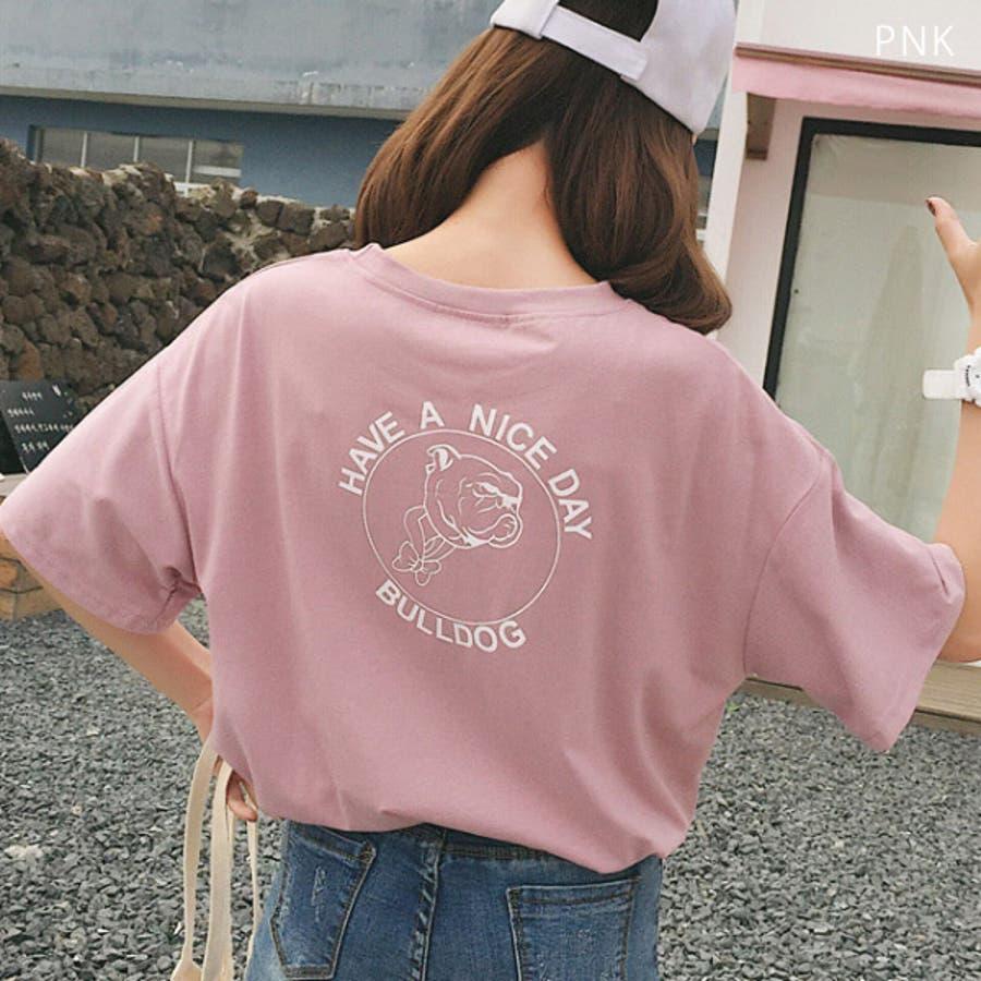 Tシャツ レディース トップス 半袖 チュニック プールオーバー クルーネック カジュアル シンプル かわいい 春夏 白 ホワイトピンク 5