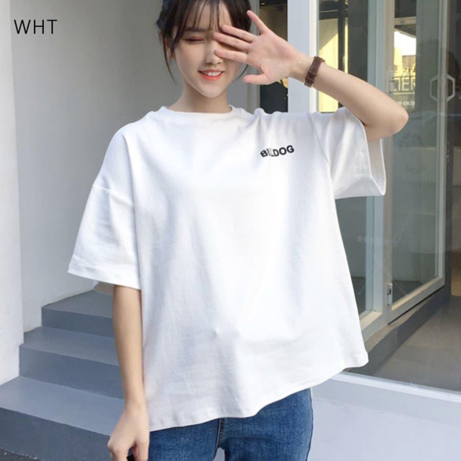 Tシャツ レディース トップス 半袖 チュニック プールオーバー クルーネック カジュアル シンプル かわいい 春夏 白 ホワイトピンク 8