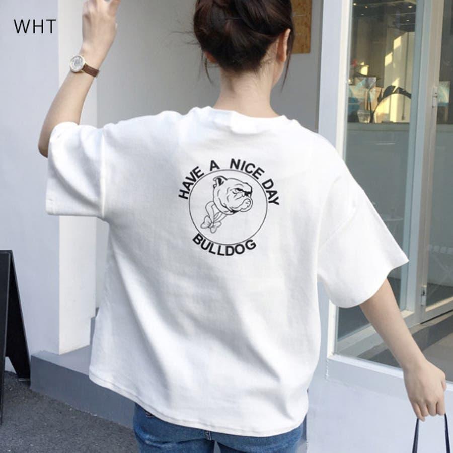Tシャツ レディース トップス 半袖 チュニック プールオーバー クルーネック カジュアル シンプル かわいい 春夏 白 ホワイトピンク 16