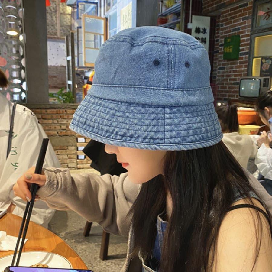 帽子 バケット ハット デニム バケット ハット バケットハット メンズ レディース サファリハット HAT 裏地 デニム フェス野外イベント 22N84418 8