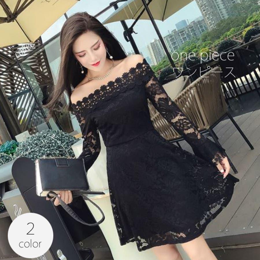 640678aac76a1 長袖 ワンピース レディース ( 切り替えワンピ ミニ ドレス onepiece ...