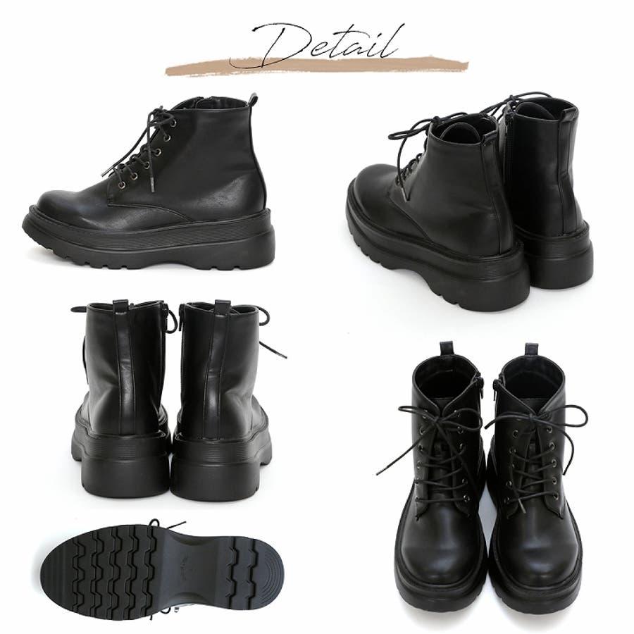 Vivian ショートブーツ ブーツ レディース ショート レースアップ 厚底 マウンテンブーツ 厚底ブーツ 大きいサイズ小さいサイズブラック 黒 ブラウン ベージュ 10