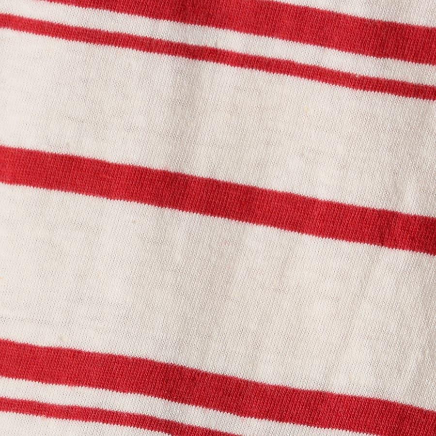 WEGO/リネン混ランダムボーダーTシャツ 7