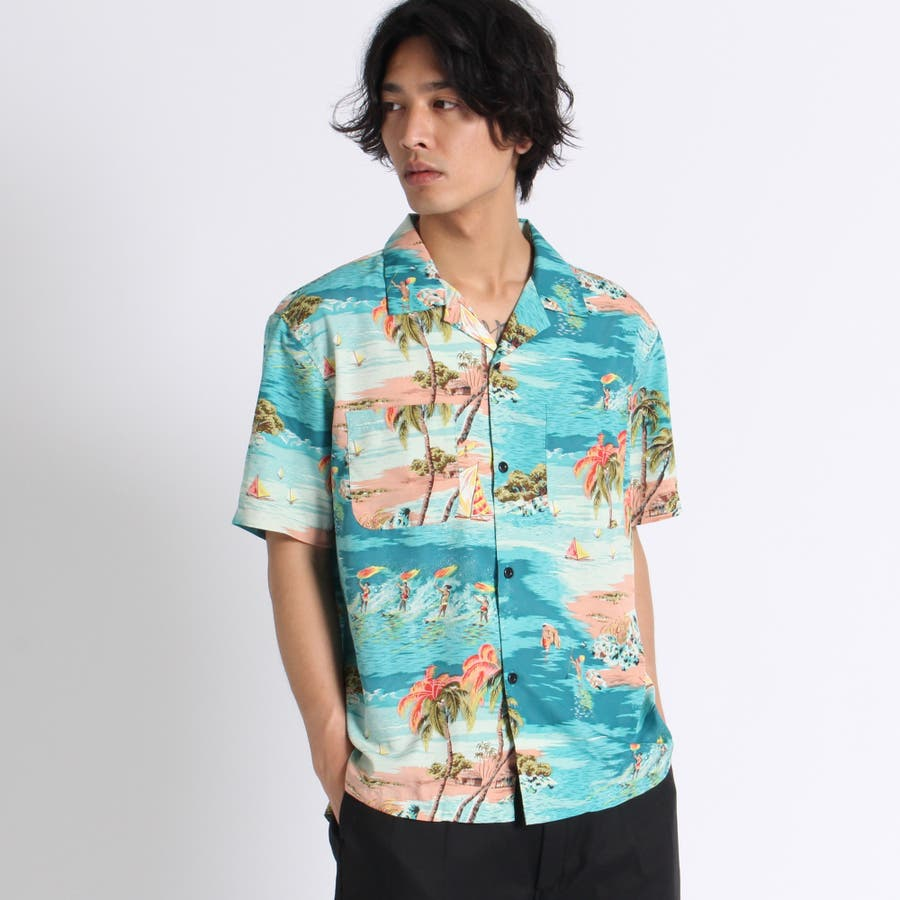 トロピカルオープンカラーシャツ 1